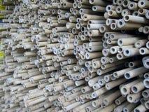 Poteaux et bâtons en bambou Photo libre de droits