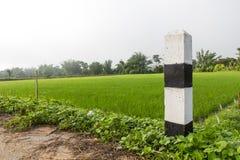 Poteaux noirs et blancs de signal Image libre de droits