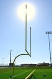 Poteaux sur la zone de football américain photos stock