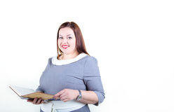 Potelé plus la femme de taille avec un beau sourire Photo stock