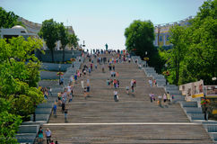 Potemkin Stairs Odessa Ukraine. Potemkin Stairs or Potemkin Steps is a giant stairway in Odessa, Ukraine. The stairs are considered a formal entrance into the stock photography