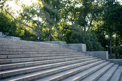 Potemkin Stairs summer in Odessa Royalty Free Stock Photos