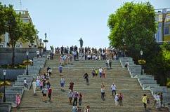 Potemkin trappa Odessa Ukraine arkivfoto