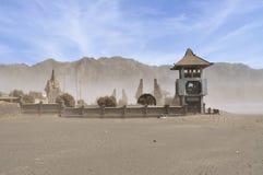 Poten Hindu Temple in Sea of Sands, Bromo Tengger Stock Photography