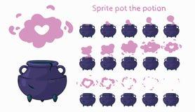 Potenciômetro da animação Potenciômetro de Sprite a poção ilustração stock
