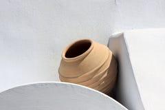 Potenciômetro de argila vazio fotografia de stock