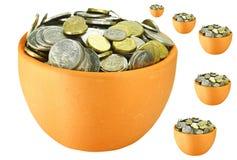 Potenciômetro de dinheiro Imagens de Stock Royalty Free