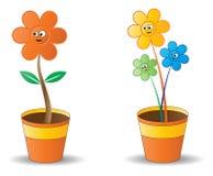 Potenciômetro de flor ilustração stock