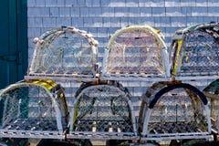 Potenciômetro de lagosta em Les îles de la Madeleine Imagem de Stock