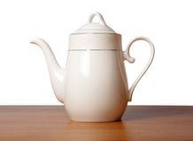 Potenciômetro do chá da porcelana de osso fotografia de stock