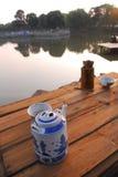 Potenciômetro do chá de China Foto de Stock