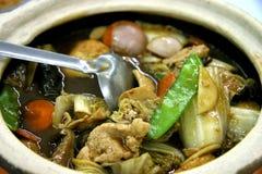 Potenciômetro quente dos vegetais misturados Imagem de Stock