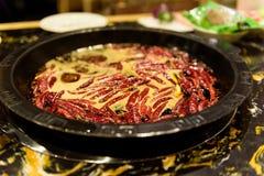 Potenciômetro quente em Sichuan fotografia de stock