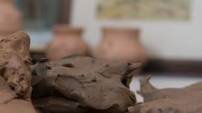 Potenciômetros da arte da argila fotografia de stock