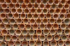 Potenciômetros da planta do Terracotta fotografia de stock