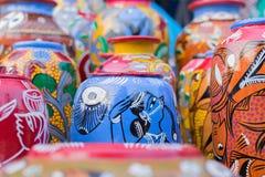 Potenciômetros da terracota, artesanatos indianos justos em Kolkata Imagens de Stock Royalty Free