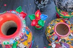 Potenciômetros da terracota, artesanatos indianos justos em Kolkata Imagem de Stock Royalty Free