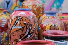 Potenciômetros da terracota, artesanatos indianos justos em Kolkata Fotografia de Stock Royalty Free