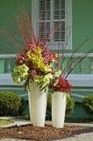Potenciômetros das flores Foto de Stock Royalty Free