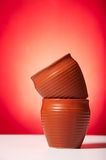 Potenciômetros de argila para o chá bebendo Imagem de Stock Royalty Free