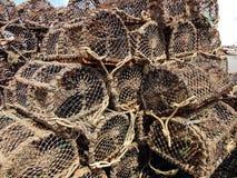 Potenciômetros de caranguejo, Irlanda de Howth Fotos de Stock