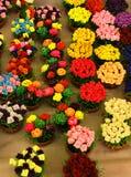 Potenciômetros de flor cor-de-rosa do Synthetic Foto de Stock Royalty Free