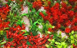 Potenciômetros de flor sintéticos Imagem de Stock