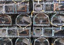 Potenciômetros de lagosta em Brigghton Fotos de Stock