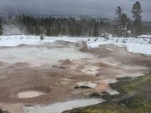 Potenciômetros de pintura de Yellowstone Fotografia de Stock Royalty Free