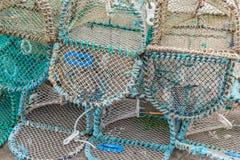 Potenciômetros Escócia das lagostas imagem de stock