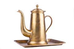 Potenciômetro antiquado do café Imagens de Stock Royalty Free