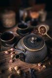 Potenciômetro asiático do chá do ferro Foto de Stock Royalty Free