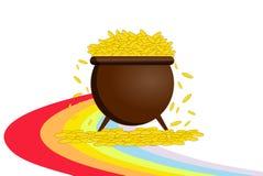 Potenciômetro com ouro Fotos de Stock Royalty Free