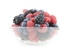 Potenciômetro das framboesas, das uvas-do-monte e das amoras-pretas Fotografia de Stock Royalty Free