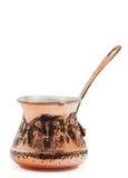 Potenciômetro de cobre do café. Fotografia de Stock Royalty Free