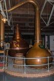Potenciômetro de cobre para as simulação ainda que destilam o processo, Dublin, Irlanda, Imagens de Stock