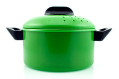Potenciômetro de cozimento verde Fotografia de Stock Royalty Free