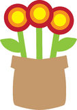 Potenciômetro de flor simples Imagem de Stock Royalty Free