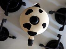 Potenciômetro de Moka para o cappuccino Fotografia de Stock