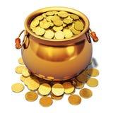 Potenciômetro de ouro Imagem de Stock Royalty Free