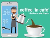 Potenciômetro do café na tela ilustração stock