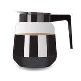 Potenciômetro do café para o café Ilustração do vetor Imagens de Stock Royalty Free