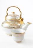 Potenciômetro do chá da porcelana Imagens de Stock
