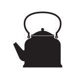 Potenciômetro do chá isolado ilustração stock