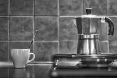 Potenciômetro do copo e do café Imagem de Stock