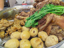 Potenciômetro do pé da carne de porco cozido Imagem de Stock
