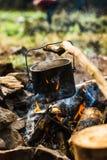 Potenciômetro no incêndio Imagem de Stock Royalty Free