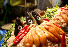 Potenciômetro quente dos peixes coreanos imagens de stock royalty free