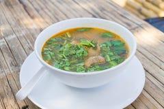 Potenciômetro quente quente e picante do reforço de carne de porco com tamarindo Imagem de Stock Royalty Free