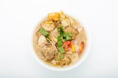 Potenciômetro quente quente e picante do reforço de carne de porco com tamarindo Fotografia de Stock